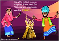 Dgreetings - Send your best wishes on Lohri with this Card.