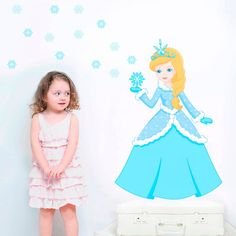 Adesivo de Parede Princesa Elsa. Adesivo de Parede Infantil, Adesivo Decorativo Infantil