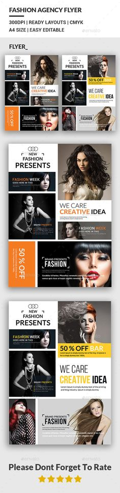 Fashion Agency Flyers Template #design Download: http://graphicriver.net/item/fashion-agency-flyers-/12443210?ref=ksioks