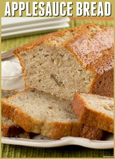 This Applesauce Bread may be healthier for you, but that doesn't mean we've skimped out on taste - it's just as moist and delicious!