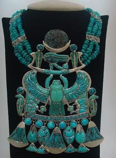 Egyptian Turquoise with Scarab Tribal Jewelry, Turquoise Jewelry, Gold Jewelry, Jewellery, Jewelry Art, Egypt Jewelry, High Jewelry, Crystal Jewelry, Jewelry Ideas