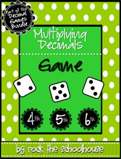 This partner dice game practices the skill of rounding decimals.A student friendly direction sheet is included along with the necessary gameboard for partner play. Multiplying Fractions Game, Dividing Decimals, Percents, Multiplication, Math Tutor, Teaching Math, Decimal Games, Math Games, Fifth Grade Math