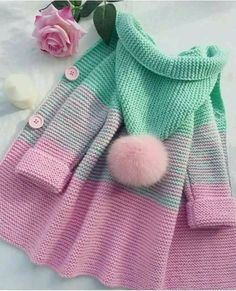 Crochet Patterns For Kids Sweaters Baby Cardigan 29 Ideas Knitting For Kids, Baby Knitting Patterns, Crochet For Kids, Baby Patterns, Knitting Projects, Crochet Baby, Knit Crochet, Crochet Patterns, Crochet Shoes