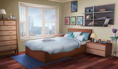 INT FANCY APARTMENT BEDROOM DAY Cenário anime Design de quarto Desenho de quarto