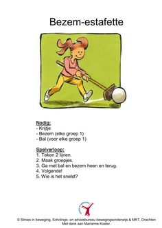 Bezem estafette Farm Activities, Team Building Activities, Science Activities, I School, Primary School, Quiet Time Boxes, Soccer Theme, Gym Games, Guinness Book