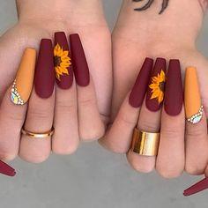 Cute Acrylic Nail Designs, Long Nail Designs, Classy Nail Designs, Winter Nail Designs, Nail Art Designs, Nails Design, Classy Nails, Stylish Nails, Cute Nails
