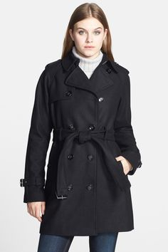 Calvin Klein Wool Blend Trench Coat by Calvin Klein on @nordstrom_rack