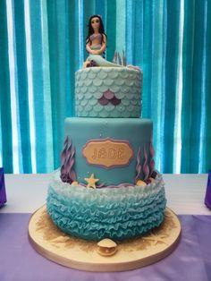 Mermaid 18th birthday cake