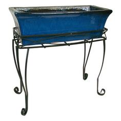 Have to have it. Border Concepts Flared Ceramic 24 in. Trough Planter - Dark Blue $99.99