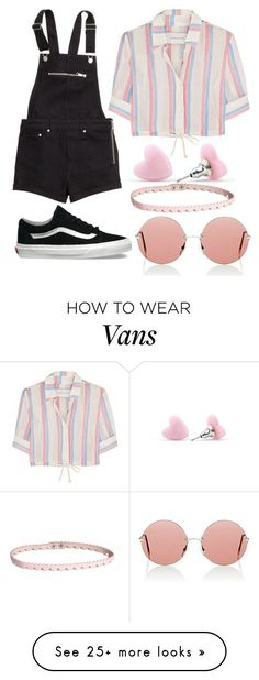 """Untitled #1559"" by thugpugbri on Polyvore featuring H&M, Solid & Striped, Christopher Kane and Vans"