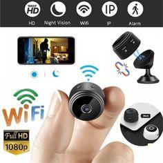 A9 P2P IP Camera WIFI HD Mini Camcorder 1080P Home Price: 30.05 & FREE Shipping #allgadgetdealz Hidden Spy Camera, Small Camera, Wireless Ip Camera, 4g Wireless, Wireless Security, Smartphone, Wi Fi, Iphone Android, Pet Camera