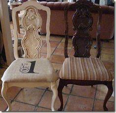 A vintage chair redo.  Love.