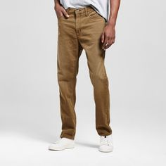Men's Athletic Fit Olive Jeans
