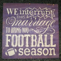 We interrupt this marriage to bring you Football by hilltopprims