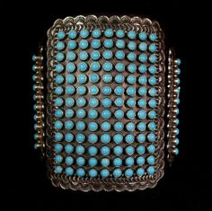 Matthew Charley Native American Navajo Sterling Silver & Turquoise Bow Guard   #Jewelry #Deal #Fashion