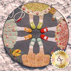 BFF Pattern: BFF (Best Friends Forever) is an adorable project designed by JoAnn Hoffman that features raw edge applique sewn down with a blanket stitch. Lot's of opportunity for embellishments! Finished size: 42