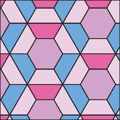 Another made of irregular polygon shapes. | Geometric Tile ...
