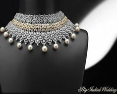 Photos for Shree Raj Mahal Jewellers, Karol Bagh on Bigindianwedding Indian Wedding Jewelry, Bridal Jewelry, Indian Jewelry, Hyderabadi Jewelry, Antique Jewellery Designs, Initial Pendant Necklace, Pretty Necklaces, Schmuck Design, Fine Jewelry
