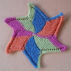 Free+Knitting+Pattern+-+Dishcloths+&+Washcloths+:+Starfish+Cloth