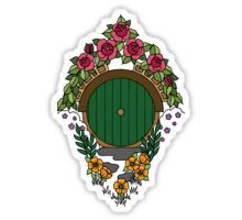 Nerd stickers featuring millions of original designs created by independent artists. Homemade Stickers, Diy Stickers, Printable Stickers, Hobbit Hole, The Hobbit, Ring Tattoos, Body Art Tattoos, Hole Drawing, Lord Of The Rings Tattoo