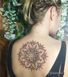 http://tattooideas247.com/mandala-dotwork-piece/ Mandala Dotwork Piece #Back, #Dotwork, #GirlsInk, #JuannitaTahere, #Mandala, #TattooIdea