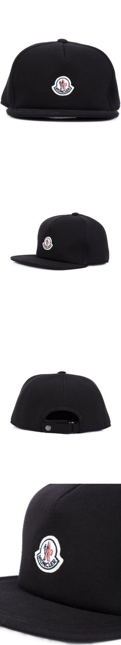 Hats 52365: $575 Moncler Black Logo Cotton Brim Baseball Cap Italy New Adjustable Fit Hat -> BUY IT NOW ONLY: $224.95 on eBay!