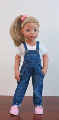 Jeans clothes for Gotz doll American Girl Outfits, American Girl Dress, Outfit Jeans, Jeans Rock, Blue Jeans, Gilet Jeans, Jeans Overall, Gotz Dolls, Dolls Dolls