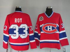 NHL Jerseys Montreal Canadiens Patrick Roy #33 Red & Blue