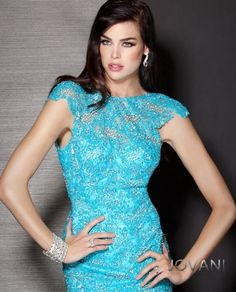 Embellished Lace Gown Closeup, Style 157820