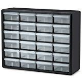 "#ad  24 Drawer Black Plastic Storage Cabinet 20"" L x 6-3/8"" W x 15-13/16"" H (1 Cabinet)  Perfect all-purpose storage box for craft supplies. Compact size for storing in drawers. Durable molded-plastic endures repeated handling. Secure-lock latch won't pop open. Lock-tight latch prevents accidental openings. Clear box with purple handle. 6"" x 12"" x 4"".   Company:  Verified Exchange  List Price:  $105.00  Amazon Price:  $105.00  https://www.amazon.com/Drawer-Black-Plastic-Storage-.."