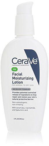 CeraVe Moisturizing Facial Lotion PM, 3 Ounce *** ADDITIONAL INFO @ http://www.nummulardermatitis.com/skincare101/10231/?464
