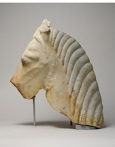 Marble head of a horse, 2nd half of 6th century B.C. Greek