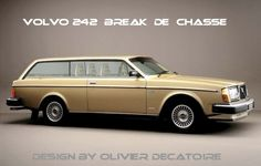 volvo-262c shooting design break , break de chasse by olivier decatoire