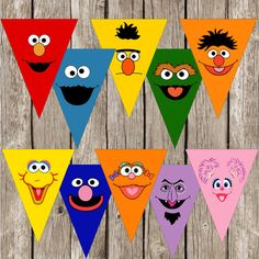 Sesame Street Party Banner - Sesame Street Birthday Party - DIY Printable - Instant Download on Etsy, $6.00