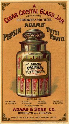 adams' pepsin tutti frutti