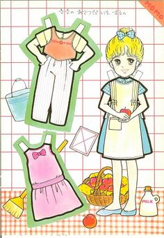 This From Eugenia - MaryAnn - Picasa 웹앨범 Chinese Paper, Japanese Paper, Doll Toys, Dolls, Doll Japan, All Paper, Retro Toys, Paper Toys, Manga