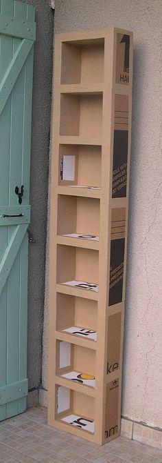 tutoriel pour fabriquer des meubles en carton.: