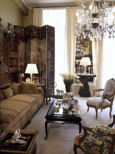 Coco Chanel's Paris apartment. When I see the couch...I think of Frasier.
