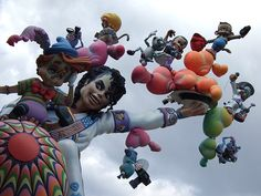 Las Fallas. Float featuring Michael Jackson