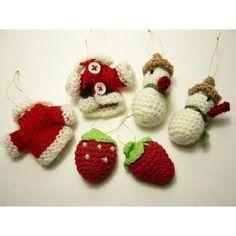 編んで作るオリジナルクリスマス(無料編み図) mAtelier (編み図、作り方、アクセサリーとか)