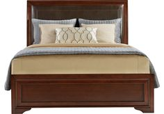Shop for a Belcourt Cherry 3 Pc King Upholstered Bed at Rooms To Go. Find Beds that will look great in your home and complement the rest of your furniture. Bed Furniture, Beds For Sale, Rooms To Go Furniture, Affordable Bedding Sets, King Upholstered Bed, Affordable Bedding, Furniture, Upholstered Beds, King Beds