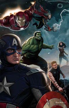 #Avengers #Fan #Art. (Avengers Digital) By:Habjan81. (THE * 5 * STÅR * ÅWARD * OF: * AW YEAH, IT'S MAJOR ÅWESOMENESS!!!™)[THANK U 4 PINNING!!!<·><]<©>ÅÅÅ+(OB4E)    https://s-media-cache-ak0.pinimg.com/564x/34/73/4b/34734b9b1bd1ba113428c3ed50a67732.jpg