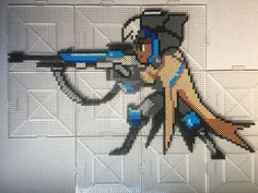 Overwatch Ana Perler Beads by TehMorrison