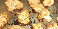 Spicy blomkåls hotwings klar til at blive spist.