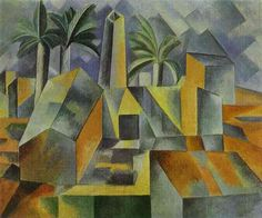 pablo picasso famous paintings | Factory in Horta de Ebbo. 1909. Oil on canvas. The Hermitage, St ...