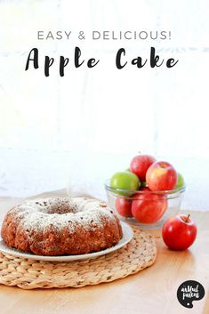 Apple bundt cake is a great way to use fall apples! This easy apple cake recipe is full of diced apple goodness and also works well for apple muffins. Apple Bundt Cake Recipes, Moist Apple Cake, Easy Apple Cake, Apple Recipes, Brownie Recipes, Spring Recipes, Holiday Recipes, Holiday Crafts, Christmas Recipes