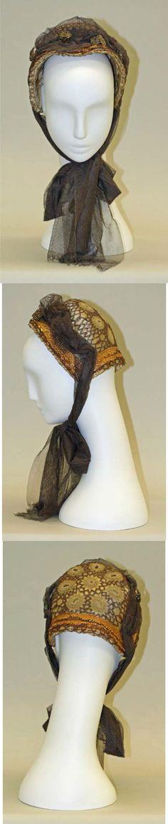 1880s bonnet, France