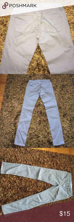 PacSun light gray super skinny jeans size 5 jr Beautiful light gray wash. Worn once PacSun Jeans Skinny