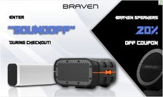 Let's Drop The Beat - Braven Speakers Coupon Code! Video Game News, Video Games, Brave, Waterproof Bluetooth Speaker, Deal Sale, Speakers, Coupon Codes, Coupons, Coding