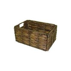 @Overstock.com - Small Two-tone Walnut Storage Baskets (Pack of 6) - Store and display your household or office items with this six-piece set of walnut storage baskets. These baskets are hand-crafted from seagrass and maize and feature a metal frame, offering sturdy, eye-catching storage for your stuff.  http://www.overstock.com/Home-Garden/Small-Two-tone-Walnut-Storage-Baskets-Pack-of-6/6006562/product.html?CID=214117 $61.99